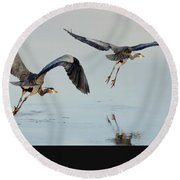 Propped Up Round Beach Towel