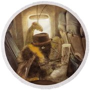 Flight Of The Bumblebee Round Beach Towel