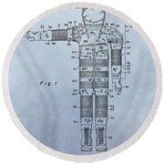 Flight Suit Patent Round Beach Towel