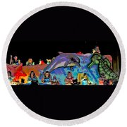 Flippers Round Beach Towel