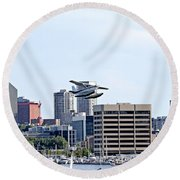 Float Plane Round Beach Towel