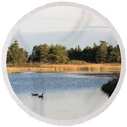 Floating Akong Round Beach Towel