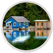 Floating Cabin Round Beach Towel