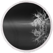 Floating Deadwood Black And White Round Beach Towel