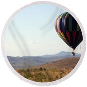 Floating Down The Hill Round Beach Towel