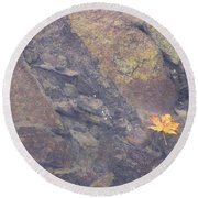 Floating Down The River Round Beach Towel