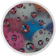 Floating Gum Balls Round Beach Towel