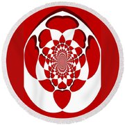 Floating Hearts Round Beach Towel