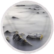 Floating In The Sea Round Beach Towel