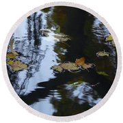 Floating Leaves Round Beach Towel