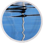 Floating On Blue 2 Round Beach Towel