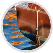 Floating On Blue 11 Round Beach Towel