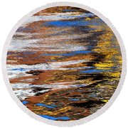 Floating On Blue 12 Round Beach Towel