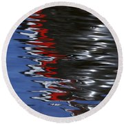 Floating On Blue 14 Round Beach Towel
