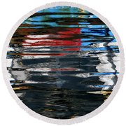 Floating On Blue 19 Round Beach Towel