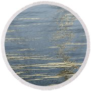 Floating On Blue 17 Round Beach Towel