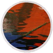 Floating On Blue 26 Round Beach Towel
