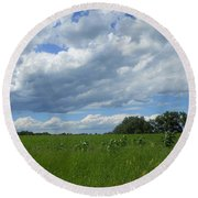 Floating On By Round Beach Towel