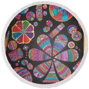 Floating Pebels Round Beach Towel