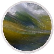 Floating River 2 Round Beach Towel