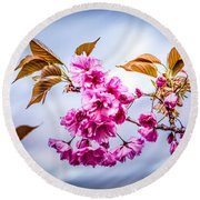 Floating To Earth Round Beach Towel