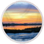 Flooded River Round Beach Towel