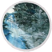 Floods 3 Round Beach Towel
