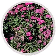 Floral Afternoon Round Beach Towel