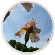 Floral Clouds Round Beach Towel