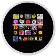 Floral Composite Not For Sale Round Beach Towel