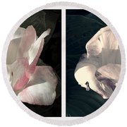 Floral Duo Round Beach Towel