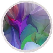Floral Expressions 022615 Round Beach Towel