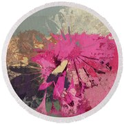 Floral Fiesta - S33bt01 Round Beach Towel by Variance Collections