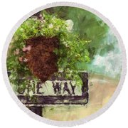 Floral - Flowers - One Way Round Beach Towel