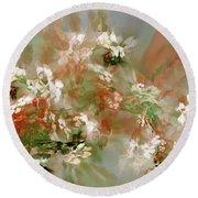 Floral Fractal 030713 Round Beach Towel