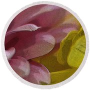 Floral Impressions Round Beach Towel