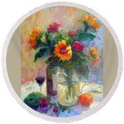 Floral Paintings Fp18 Round Beach Towel