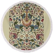 Floral Pattern Round Beach Towel by William Morris