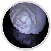 Floral Reflections 4 - Camellia Round Beach Towel