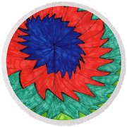 Floral Spin Round Beach Towel
