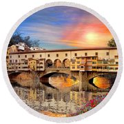 Florence Bridge Round Beach Towel