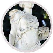 Florence Brokaw Satterwhite Memorial IIi Cave Hill Cemetery Round Beach Towel