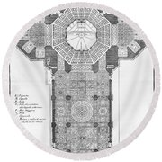 Florence: Cathedral Round Beach Towel