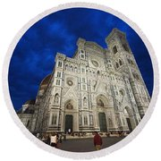 Florence Cathedral  Round Beach Towel