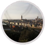 Florence Form The Piazza Michalengelo Round Beach Towel