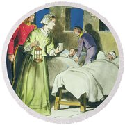 Florence Nightingale From Peeps Round Beach Towel by Trelleek