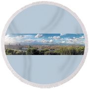 Florence Panorama Round Beach Towel
