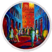 Florence Sunset Round Beach Towel