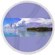 Florida Bay Island Filtered Round Beach Towel