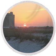 Florida Beach Sunset Round Beach Towel